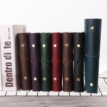 Vendita calda Classic Business Notebook A5 Personale A7 Genuino Della Copertura del Cuoio Notebook Sciolto Foglia Diario di Viaggio Sketchbook Planner