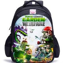 16 дюймов Растения против Зомби сумки для школьников мальчиков рюкзак крутые детские школьные сумки для подростков Детские рюкзаки Mochila