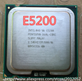 Original Intel Pentium Dual-Core E5200 CPU Processor (2.5Ghz/ 2M /800GHz) Socket 775 (working 100% Free Shipping)