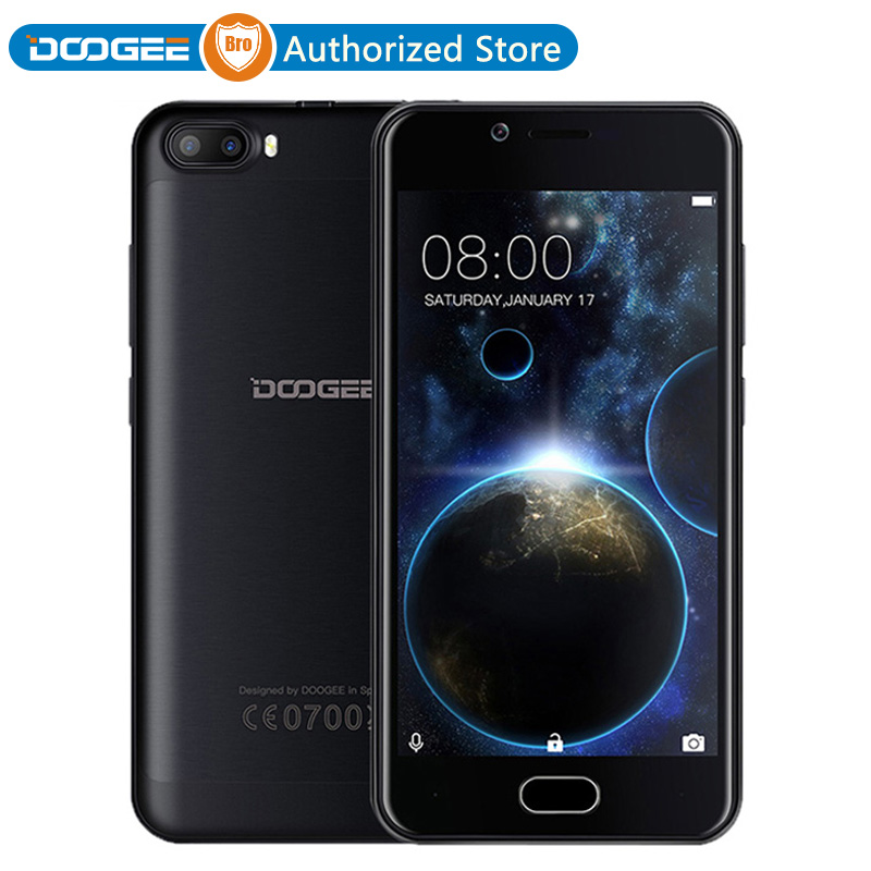 Цена за 2017 новое прибытие doogee mt6580a стрелять 2 смартфон dual sim quad core android 7.0 3360 мАч отпечатков пальцев мобильный телефон celulares