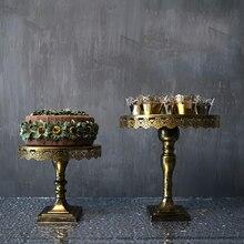 Bronce soporte de la torta de 10/12 pulgadas de la magdalena soporte de la torta de boda herramientas de decoración para hornear Cocina, Comedor y bar