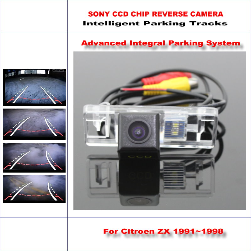 Backup Rear Reverse Camera For Citroen ZX 1991~1998 / HD 860 * 576 Pixels 580 TV Lines Intelligent Parking Tracks