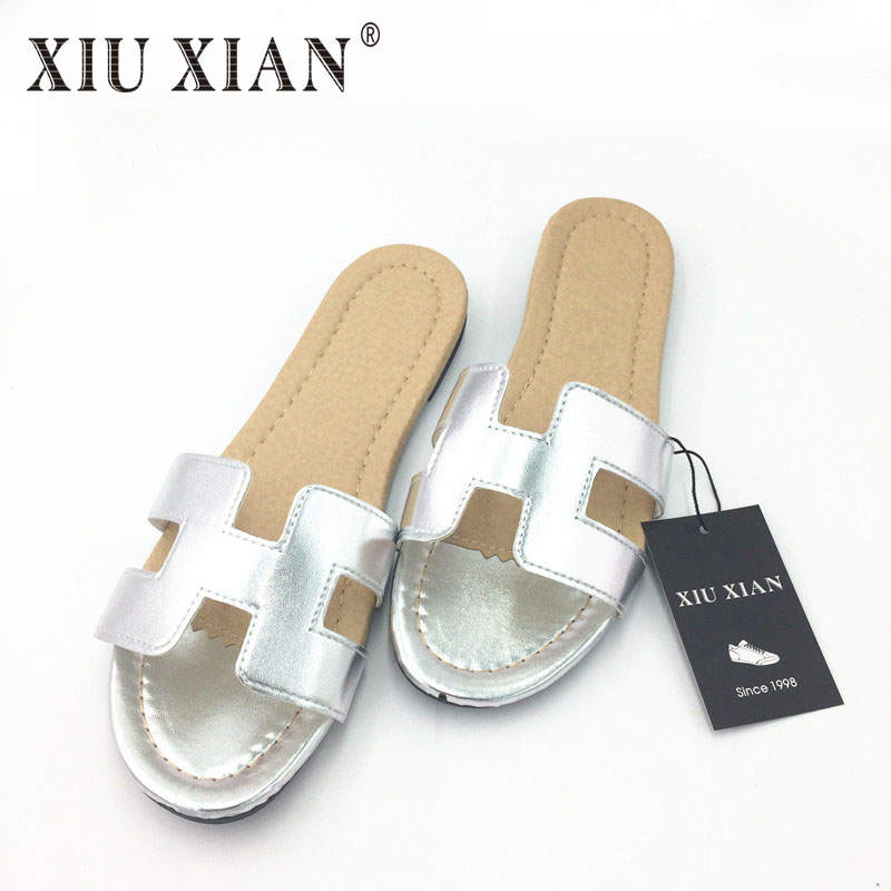 2017 Fashion Slippers Women Summer Open Toe Korean Home Slippers Letter H Lady Flat Shoes Beach Slipper Slides Sandals Flip Flop набор инструмента berger bg043 14