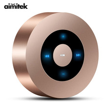 Aimitek A8 Mini Wireless Bluetooth Speaker Portable Touch Screen Stereo Subwoofer MP3 Player with Microphone TF Card Slot AUX-in