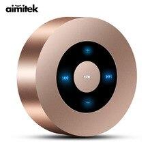 Aimitek A8 Mini bezprzewodowy głośnik Bluetooth przenośny ekran dotykowy subwoofer stereo odtwarzacz MP3 z mikrofonem gniazdo karty tf aux in
