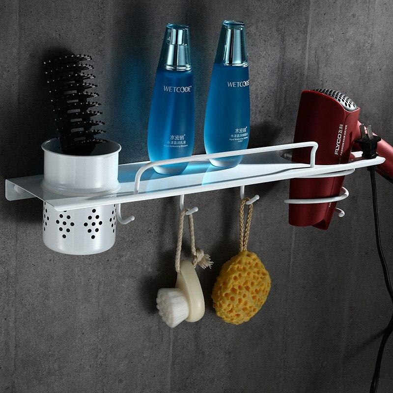 Comprar Auswind multifunción blanco estante 304 Baño de acero inoxidable montado en la pared baño estante Accesorios kn10 de bathroom shelf fiable proveedores en AMPA Store