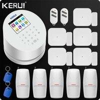 KERUI W2 Wi Fi GSM PSTN Офис охранной сигнализации Системы Android IOS приложение удаленного Управление pet иммунная движения и двери детектор