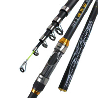Telescopic fiberglass Fishing Rod 2.1m 2.4m 2.7m 3.0m 3.6m FRP Ultra Light Fishing fiberglass Stick hand pole Spinning rod