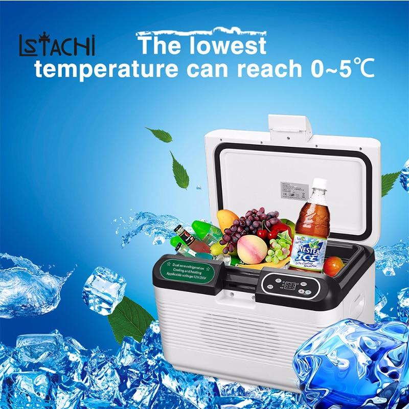 LSTACHi 12L Portable Mute Design Dual-core Mini Auto Fridge Truck Home Freezer Travel Car Refrigerator Cooling to 5 Degree 520w cooling capacity fridge compressor r134a suitable for supermaket cooling equipment