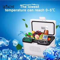 LSTACHi 12L Portable Mute Design Dual core Mini Auto Fridge Truck Home Freezer Travel Car Refrigerator Cooling to 5 Degree