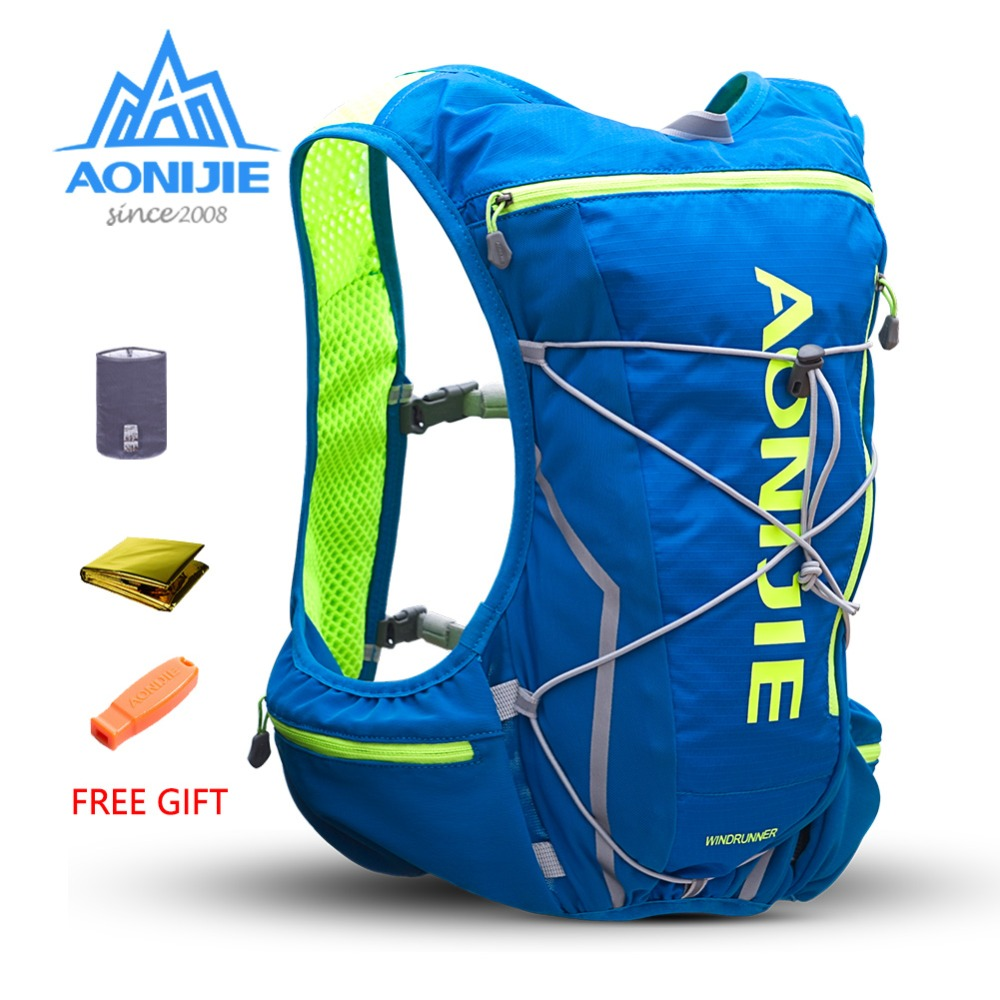 AONIJIE E904S 10L Running Hydration Pack Backpack Rucksack Bag Vest Harness Water Bladder Hiking Camping Marathon Race Sports