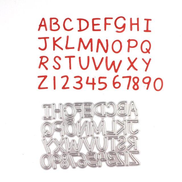 Número y Letra Del Alfabeto de Metal Troquelado Muere Plantillas para Scrapbooking DIY del Álbum de Foto Decorativo En Relieve DIY Tarjetas De Papel