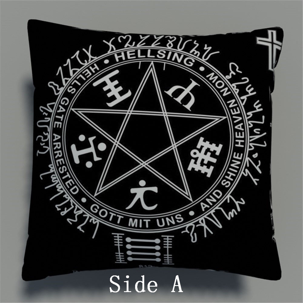 Hellsing Anime Two Side Pillowcases Hugging Pillow Cushion Case Cover Otaku Cosplay Gift New 534
