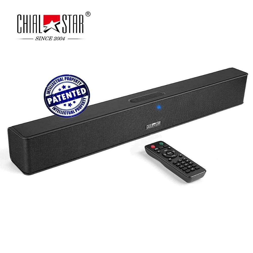 Chialstar Портативный Беспроводной Sound Bar 21 дюймов мини Саундбар 24 Вт стерео Колонки Мощный Bluetooth 4.1 аудио Динамик партии