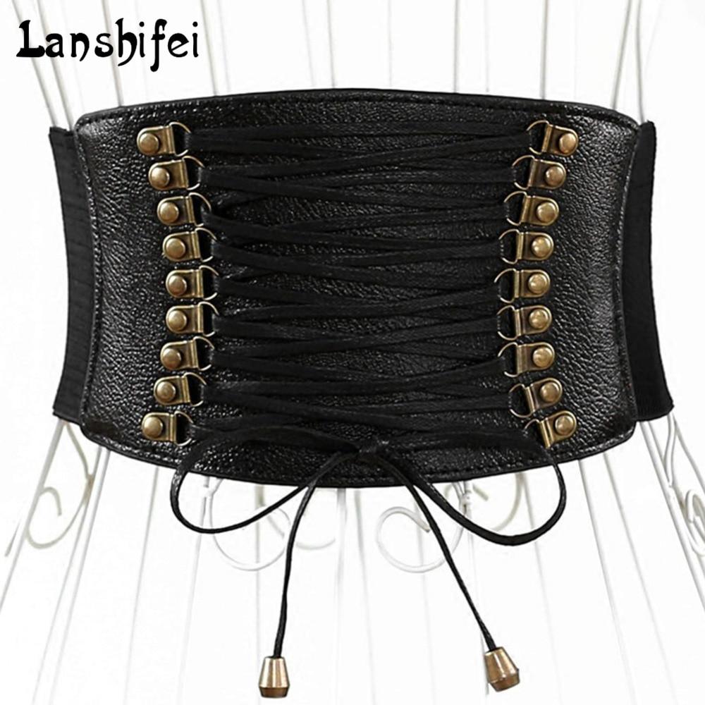 Europe Wide Waist Belt Fashion Female Elastic Tassel Wide Belt Decoration Dress Accessories Belt Cummerbunds Waist 65-85 Cm