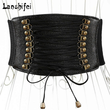 Europe Wide Waist Belt Fashion Female Elastic Tassel Wide Belt