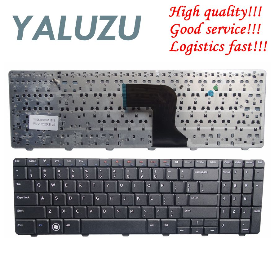 US NEW Keyboard for <font><b>Dell</b></font> <font><b>Inspiron</b></font> 15 15R N M <font><b>5010</b></font> N5010 M5010 0Y3F2G NSK-DRASW 0JRH7K 9Z.N4BSW.A0R US laptop keyboard NEW image
