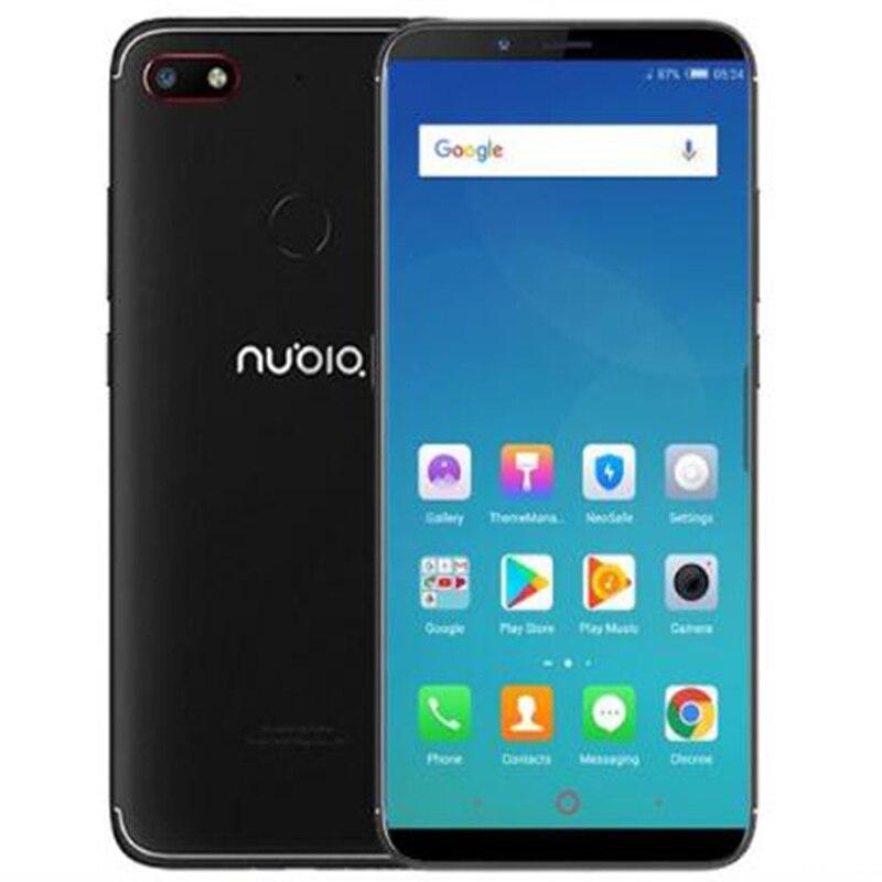 D'origine Nubia V18 4G 64G 6.01 pouce 4000 mAh Snapdragon 625 Mobile Téléphone Avant 8.0MP Arrière 13.0MP Empreintes Digitales ID
