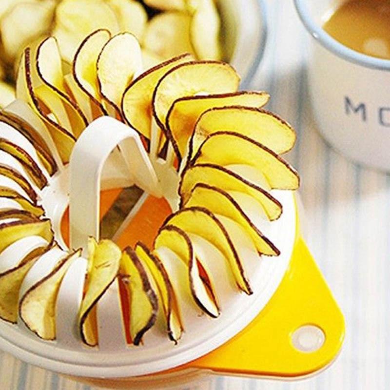 3pcs Low Calories Potato Chip Slicer Tools Homemade Microwave Potato Chips Maker Healthy Fresh Chip Making Machine Plastic