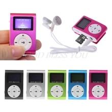 مصغرة USB مشبك معدني مشغل MP3 LCD حامل شاشة 32 جيجابايت مايكرو SD TF فتحة للبطاقات الرقمية مشغل موسيقى mp3