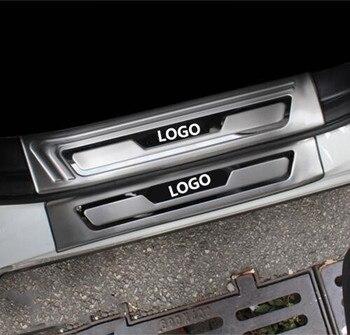 רכב סטיילינג אביזרי עבור מאזדה CX-5 CX 5 CX5 דלת אדן Trim כיסוי שפשוף צלחות משמר הגנת מגן מדבקת 2017 -2019