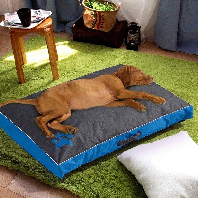 كلب سرير للكلاب منزل كبير أريكة بيت الكلب وسادة مربعة هاسكي لابرادور تيدي كبير الكلاب بيت قطة سرير الحصير