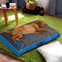 Camas para cães grandes casa sofá canil quadrado travesseiro husky labrador teddy grandes cães camas de gato esteiras