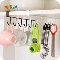 MAIKAMI Iron Kitchen Storage Rack Cupboard Hanging Hook Shelf Dish Hanger Chest Storage Shelf Bathroom Organizer