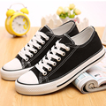 2016 Women Canvas Shoes New Fashion Lace-up Women Casual Shoes Classic Comfortable Woman Flats Round Toe Shoes ST428