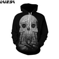 LIESA 3D Hoodie Men Women Space Galaxy Hoodies 2017 Mens Hoody 3D Printed Lovers Sweatshirts Autumn