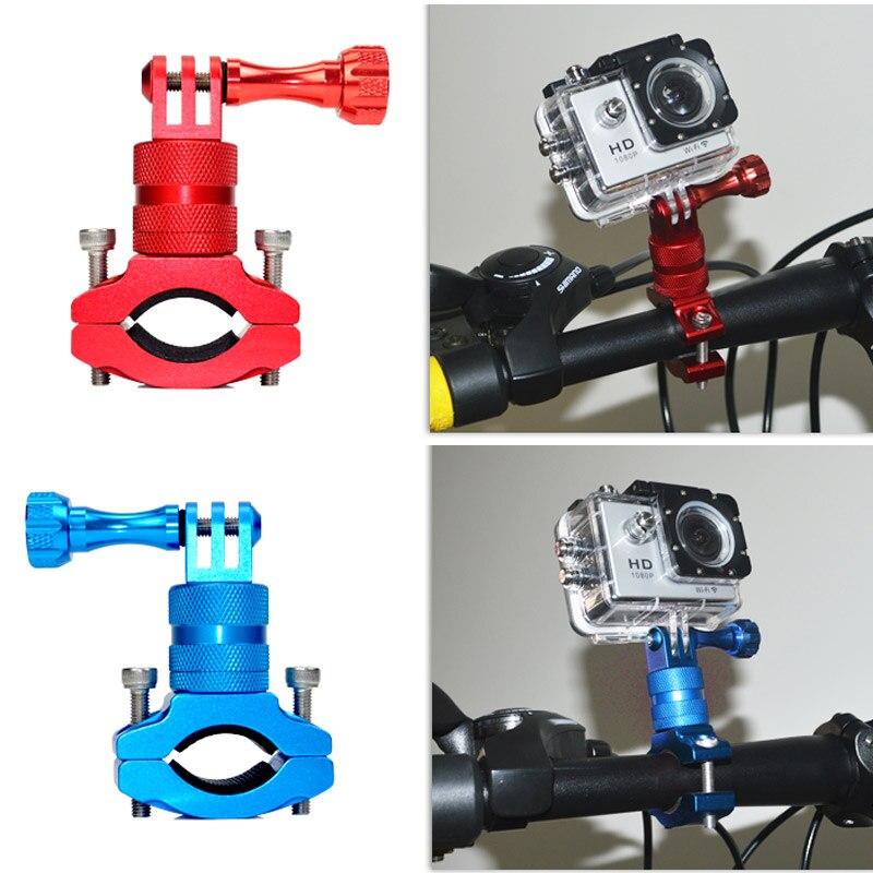 Nueva cámara de acción Accesorios bike aluminio Agarraderas montaje rotatorio de 360 grados Perchas de bicicleta para gopro 5/6 gdeals