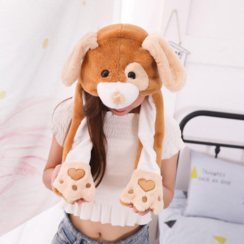 1 Stück 30*60 Cm Plüsch Elefant Hund Ohr Hüte Kneifen Moving Ohren Winter Tiere Caps Cosplay Party Leistung Kostüm