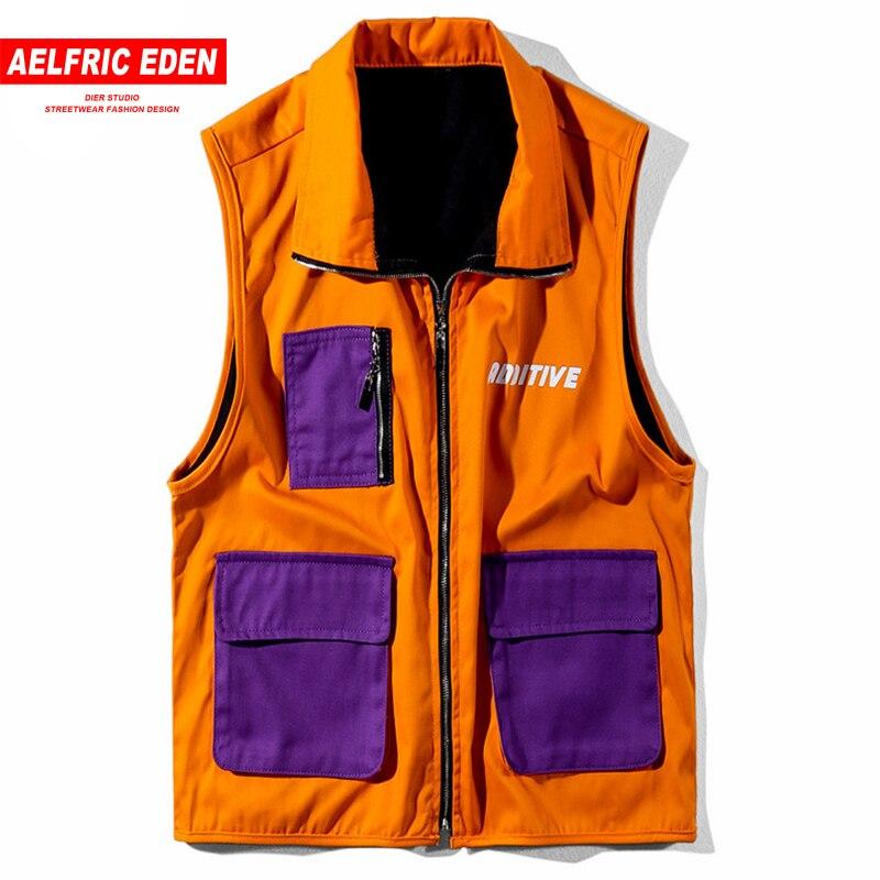 Aelfric Eden Hit Color Patchwork Safari Style Vest 2018 Summer Autumn Waistcoat Fashion Jacket Coat Hip Hop Tactical Vest Ad03 Pleasant To The Palate