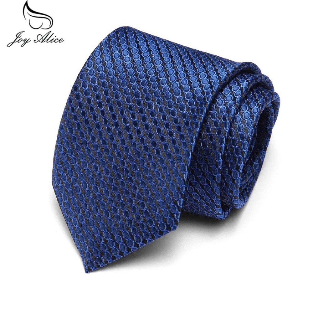 New Men's 7.5cm Slim Ties Classic Polyester Woven Party Neckties Fashion Plaid Dots Man Tie For Wedding Business Male Tie