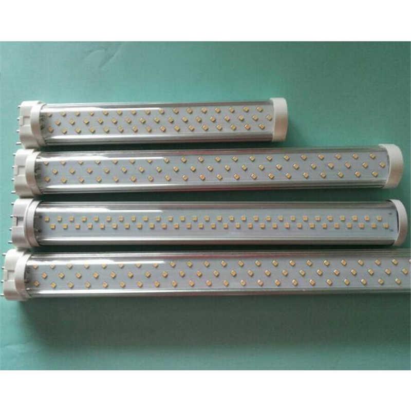 LED 2G11 GY10Q lampe laiteux blanc/LED transparent PL Tube ampoule lumières Plug In clair 10 w 12 w 15 w 20 w 22 W SMD 2835 2100-2300lm