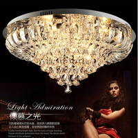 D80cm Modern LED Round K9 Crystal Ceiling Lights Fixture Home Lighting Lustres Foyer Dining Room Bedroom