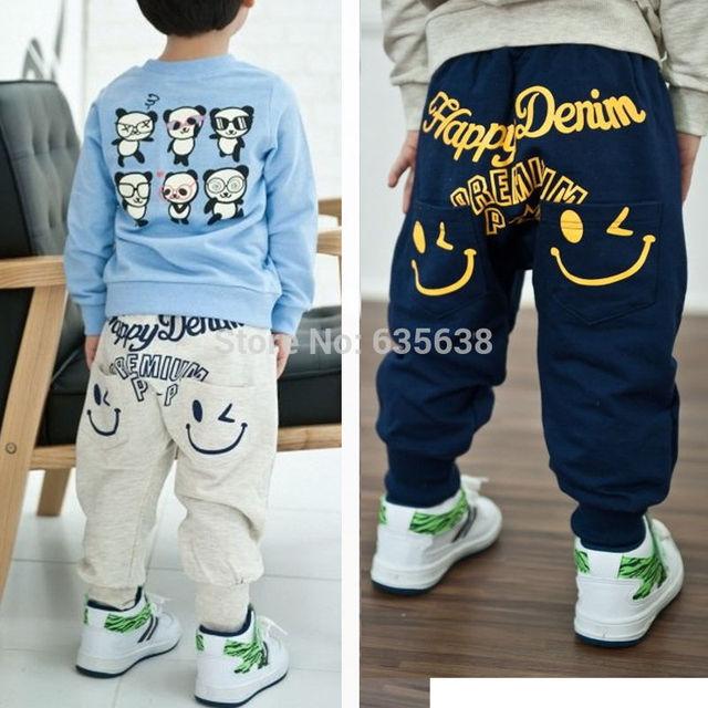 e43e3d0dd022 Retail 2017 New spring autumn cotton kids pants Boys Girls Casual Pants 2  Colors Kids Sports trousers Harem pants Hot