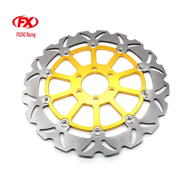 FX CNC Motorcycle Brake Disks Front Brake Disc Rotor For KTM 125 200 390 DUKE 2013 - 2016 2015 Motorbike Front Brake Disc Rotor free shipping aluminium wave motorcycle accessories front brake disc rotor disk for ktm 125 200 390 duke 2013 2014