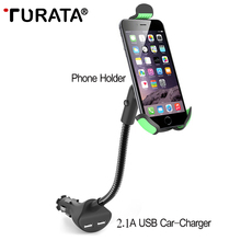 TURATA Car Mount Phone Holder for Smartphone Dual 2.1A Output Quick USB Car Charger for iphone X 8 7 6 6S Plus Xiaomi LG Android