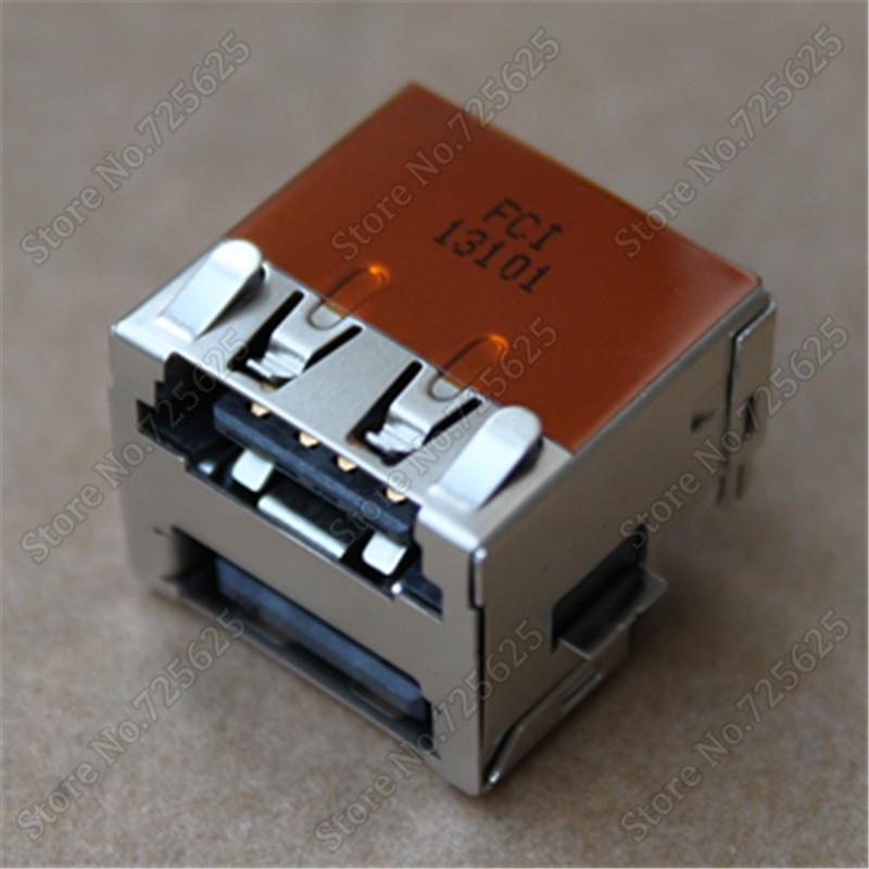 NEW ESATA USB JACK CONNECTOR FOR DELL E6400 E6410 E6500 E6510 USB PORT SOCKET 2pcs 100pcs for laptop dell latitude e5540 usb 3 0 jack socket port connector 9 pin new