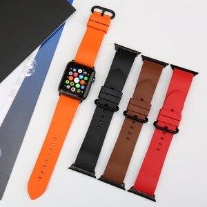 Image 4 - Voor Apple Horloge Band 44Mm 40Mm 42Mm 38Mm, fluor Rubber Apple Horloge Band Voor Apple Horloge Alle Modellen Iwatch Sport Horlogebanden