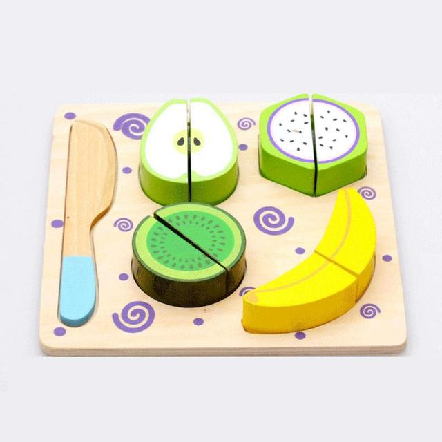 Wooden Toys Multifunctional Fruit Jigsaw Puzzle Fruit Game