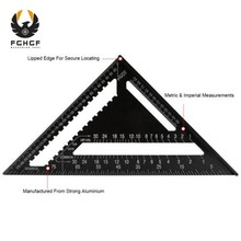 FGHGF Angle Ruler 12 Inch Triangle Ruler Straight Angle Ruler Measuring Tools Tool Quick Read Square Layout Tool Woodworking