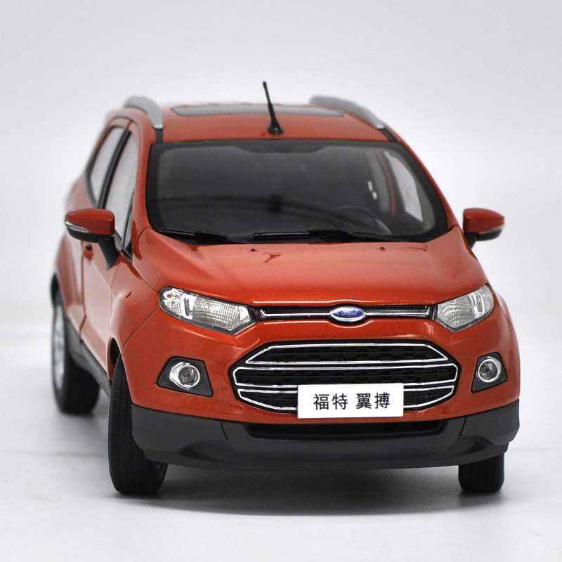 new 1:18 diecast model for ford ecosport 2015 orange suv alloy toy