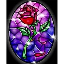 Роза Diy 5D алмазная картина вышивка крестиком набор ремесло Домашний декор