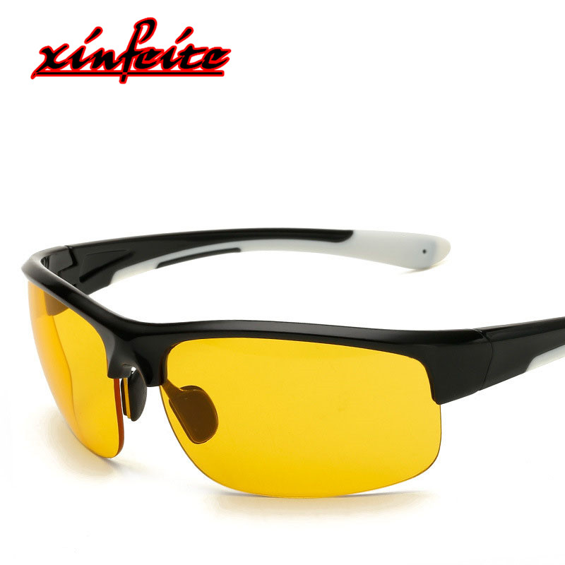 6eea0885983 2018 Half Frame Male Sunglases Women Goggles Sun Glasses Outdoor Eyewear  For Men Yellow HD Driving Gozluk Female Vintage Oculos-in Sunglasses from  Apparel ...