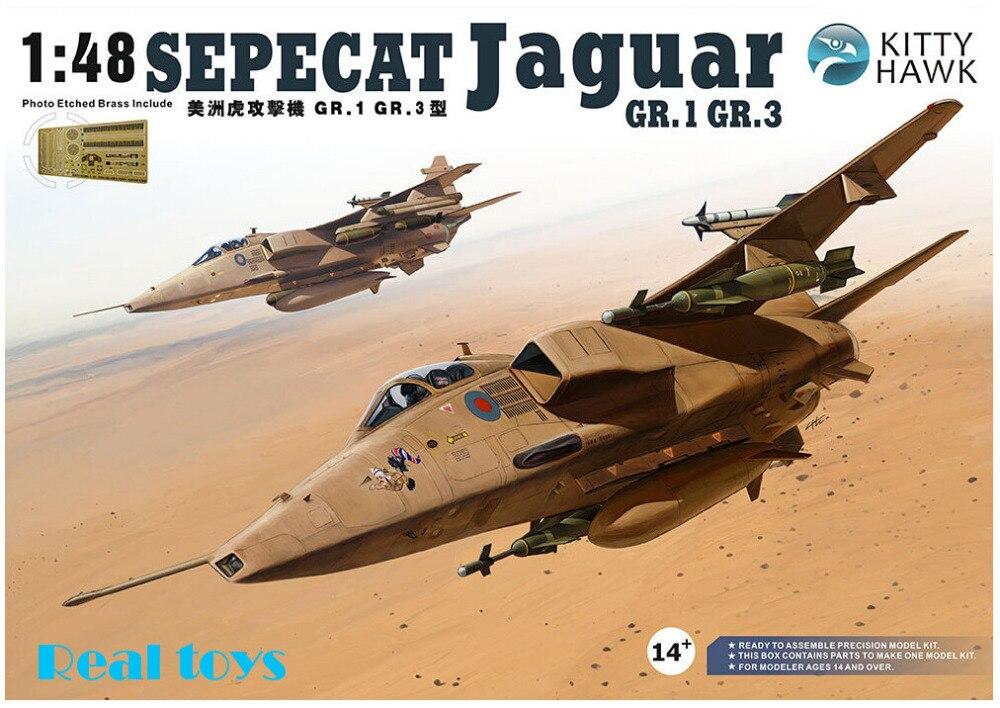 Oyuncaklar ve Hobi Ürünleri'ten Modeli Yapı Setleri'de Kitty hawk KH80106 1/48 Sepecat Jaguar GR.1/GR.3 plastik model seti'da  Grup 1