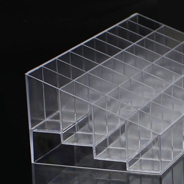 New Acrylic Organizer Lipstick Jewelry Display Holder Nail Polish Rack All Transparent Colors