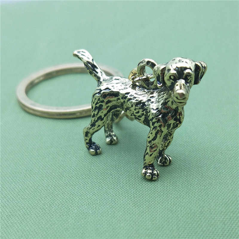 New Vintage 3D Labrador retriever Key Chains Fashion Pet Dog Đồ Trang Sức Labrador retriever Xe Keychain Bag Keyring Cho Phụ Nữ Người Đàn Ông