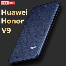 Huawei Honor 8 Pro V9 чехол для телефона Huawei V9 Чехол кожаный Flip Book Kickstand принципиально Роскошный блеск Капа Mofi huaewi V9 Крышка